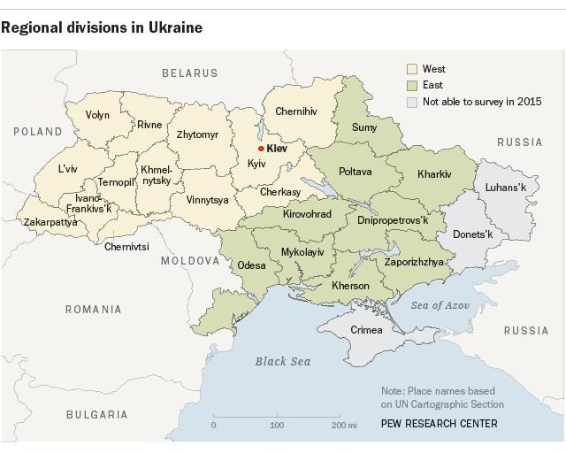 Regional divisions in Ukraine