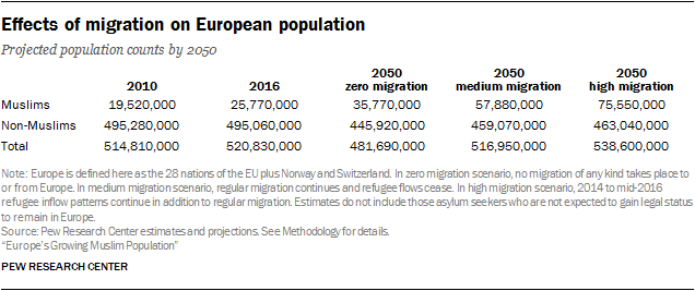 Effects of migration on European population